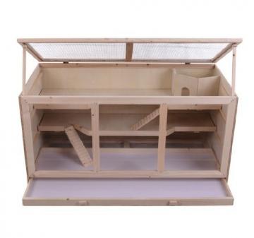 meerschweinchen k fig aus holz und plexiglas meerschweinchen. Black Bedroom Furniture Sets. Home Design Ideas
