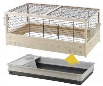 Meerschweinchen Käfig komplett Oberteil abnehmbar