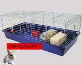 Meerschweinchen Käfig mit Flasche und Napf
