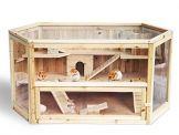 Meerschweinchenstall indoor Holz