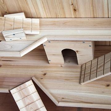 Meerschweinchenstall indoor Holz Etagen