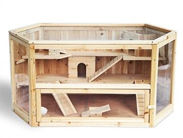 Meerschweinchenstall indoor Holz für Balkon